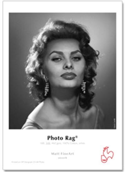 Afbeelding van Hahnemuehle Photo Rag 308 gr. 24inch (610mm) x 12mtr.  Watervast, Enkelzijdig art.nr. 11954