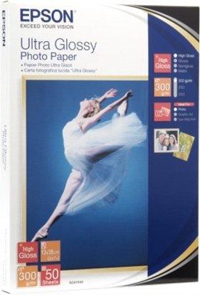Afbeelding van Epson Ultra Glossy Photo Paper 300gr 13x18 50 vel C13S041944 art.nr. 411108793
