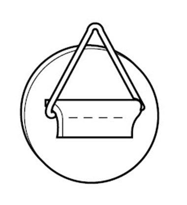 Afbeelding van Zelfklevende Tegelhanger 40mm diameter, draagkracht 0,8 kg art.nr. 240143020