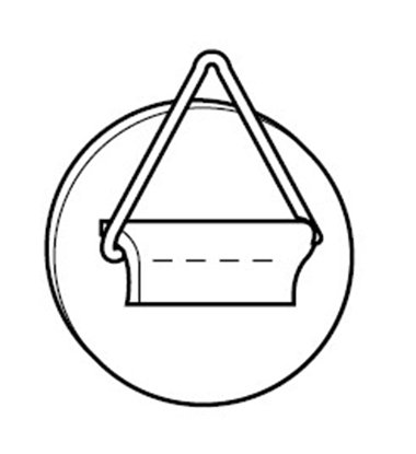 Afbeelding van Zelfklevende Tegelhanger 60mm diameter, draagkracht 1 kg art.nr. 240143030