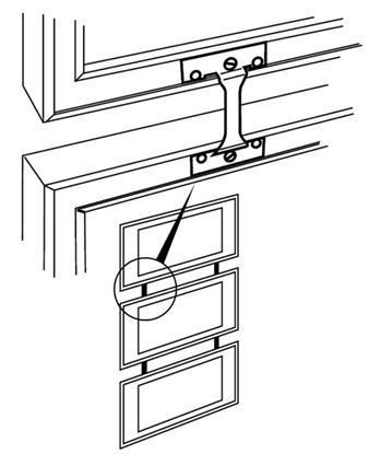 Afbeelding van Lijstverbinder voor het aan elkaar koppelen van twee Nielsen lijsten art.nr. 15930
