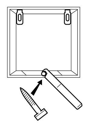 Afbeelding van Anti diefstalset voor afbeelding in houten lijst art.nr. 15972