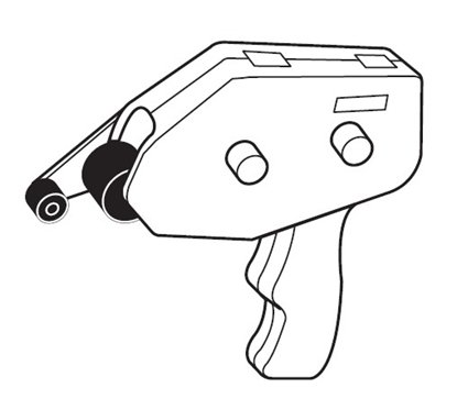 Afbeelding van Transfer tape houder voor zuurvrije dubbelzijdige tape art.nr. 240196005