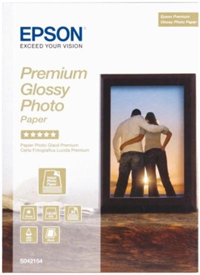 Afbeelding van Epson Premium Glossy Photo Paper 225gr.  13x18cm, 30 vel C13S042154 art.nr. 411417680