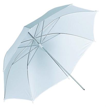Afbeelding van Qihe QH-S42 Flits Paraplu wit transparant 105cm art.nr. 12093