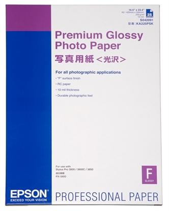 Afbeelding van Epson Premium Glossy Photo Paper  A2 (420mm x 584mm) 25 vel C13S042091 art.nr. 411283221
