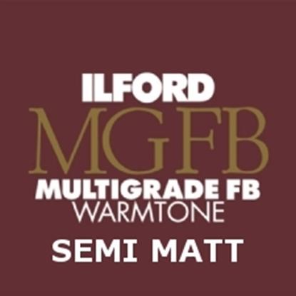 Afbeelding van Ilford Bariet MGW.24K 17.8 x 24.0 cm 100 vel Multigrade Fiber Warmtone Halfmat art.nr. 619130933