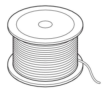 Afbeelding van Arti Teq Perlondraad op rol diameter 2mm lengte 100 mtr type 9.4404 art.nr. 2248