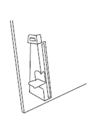 Afbeelding van Kartonnen staander met zelfklevende strip 34 cm hoog 25 stuks art.nr. 1060