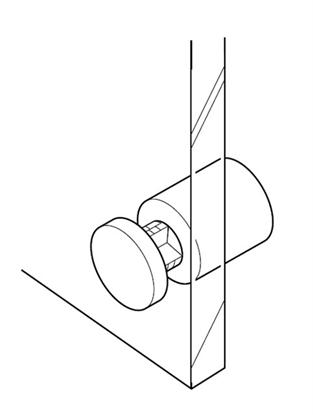 Afbeelding van Plaatklemmen afstandhouders Wit. Prijs is per set van 4 stuks art.nr. 1075