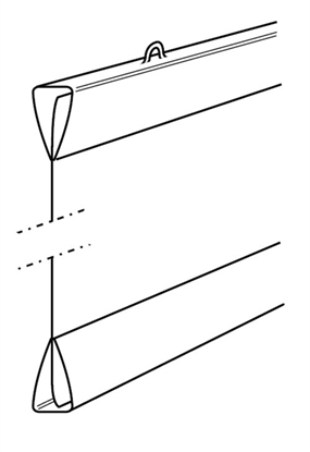 Afbeelding van Posterstrips 1 set van 2 strips Kleur WIT Lengte 100 cm art.nr. 619301442