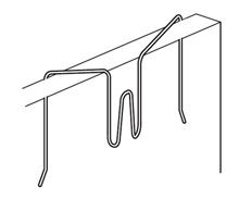 Afbeelding van Scheidingswand haak flex, wit gelakt metaal, max. draagkracht 3kg. Wanddikte 11 tot 30 mm art.nr. 9475