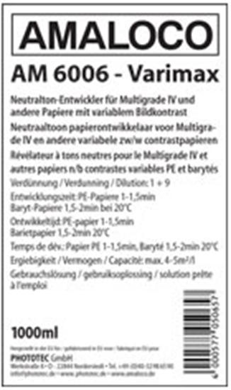 Afbeelding van Amaloco AM 6006 Varimax Neutraaltoon papierontwikkelaar 5 liter art.nr. 4886