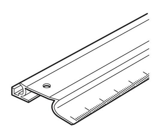 Afbeelding van Snijliniaal 60 cm met anti sliprubbers art.nr. 240331610