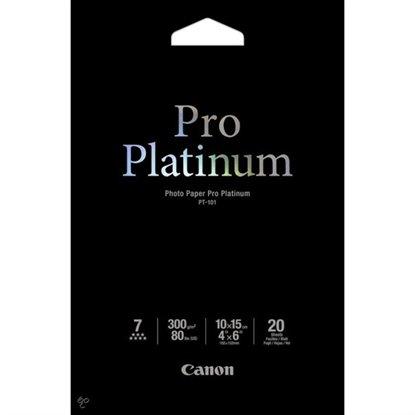 Afbeelding van Canon PT-101 Pro Platinum Photo Paper High Gloss 10x15cm 20 vel 300gr. art.nr. 2429348