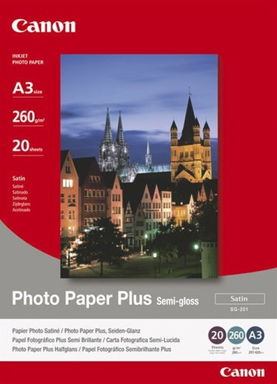 Afbeelding van Canon SG-201 A3 Photo Paper Plus Semi-gloss, 20 sheets 260gr. art.nr. 411271120