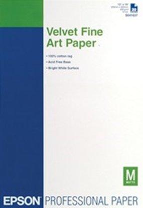 Afbeelding van Epson Velvet Fine Art Paper  260gr.  A3+ 20 vel C13S041637 art.nr. 410891793