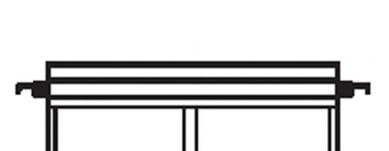 Afbeelding van Kenro plastic staven voor hangmappen 10 stuks lengte 39cm art.nr. 619130943