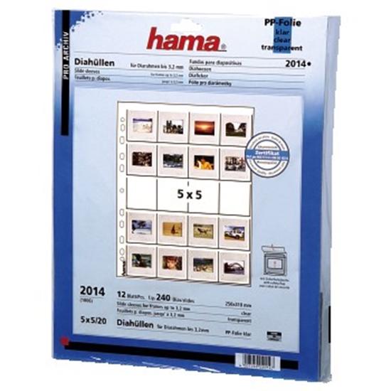 Afbeelding van Hama Pro Archief 5x5 voor 20 kleinbeelddia's 12 bladen Hama nr. 2014 art.nr. 42979