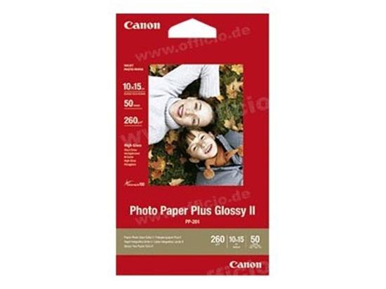 Afbeelding van Canon Photo Paper Plus II PP-201 Glossy 50 vel 10x15cm 260 gr 2311B003 art.nr. 26688
