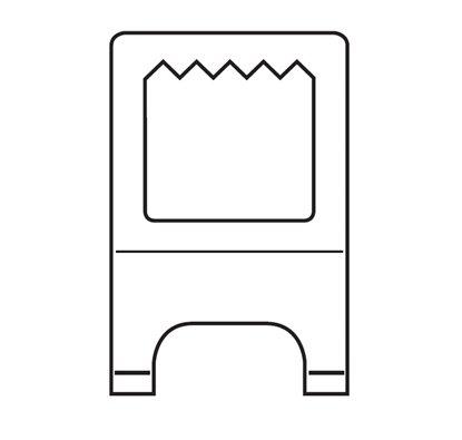 Afbeelding van Foam-board hanger extra. Verpakt per 10 stuks art.nr. 7522