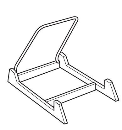 Afbeelding van Bordenstandaard kunststof ZWART art.nr. 29966