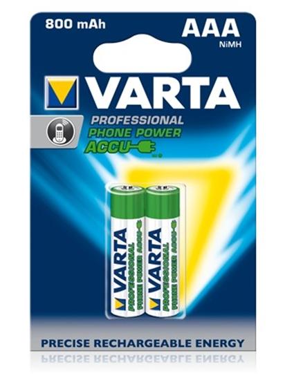 Afbeelding van Varta Prof accu 1.2 V 800 mAh NIHM AAA 2 stuks Phone Power art.nr. 14159