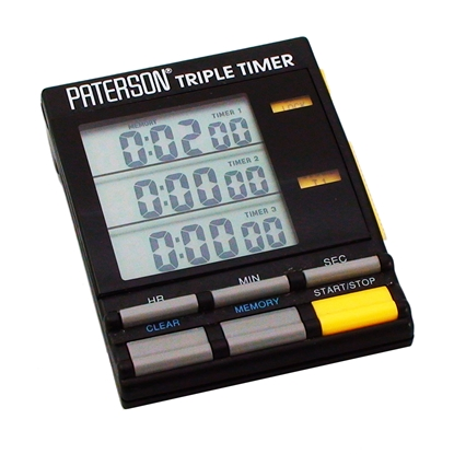 Afbeelding van Paterson Triple Timer dokaklok PTP800 art.nr. 62301