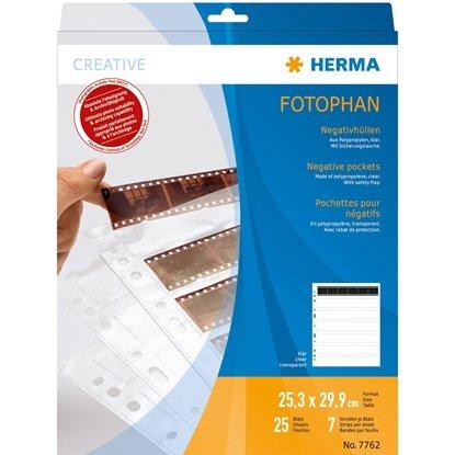 Afbeelding van Herma negatief bladen kleinbeeld 25 stuks Transparant Herma nr. 7762 art.nr. 50375