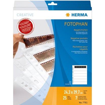Afbeelding van Herma negatief bladen kleinbeeld 25 stuks Herma nr 7761 art.nr. 89480