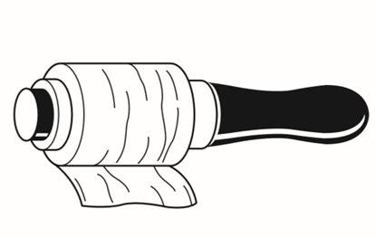 Afbeelding van Losse handafroller voor wikkelfolie art.nr. 88409