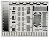 Afbeelding van Testkaart voor het testen van scherpte en vertekening 32x47cm art.nr. 73868