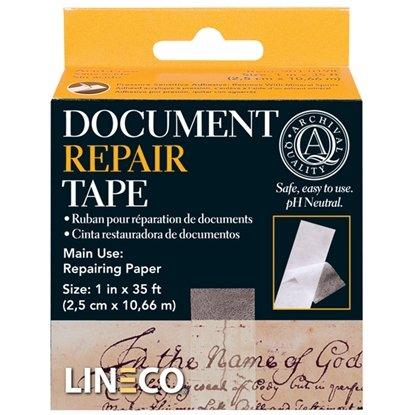Afbeelding van Lineco Document Repair Tape 25mm x 10,65mtr art.nr. 88364