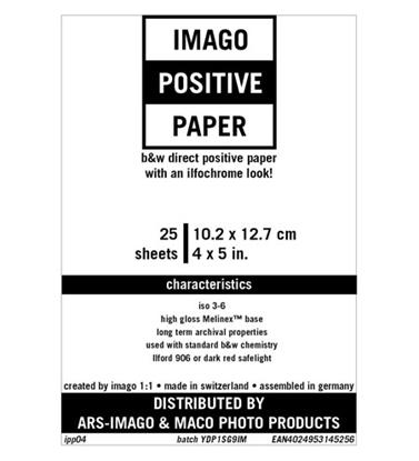 Afbeelding van Imago Direct Positive Paper 10,2x12,7cm 25 vel Glans art.nr. 69596