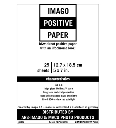 Afbeelding van Imago Direct Positive Paper 12,7x17,8cm 25 vel Glans art.nr. 10252