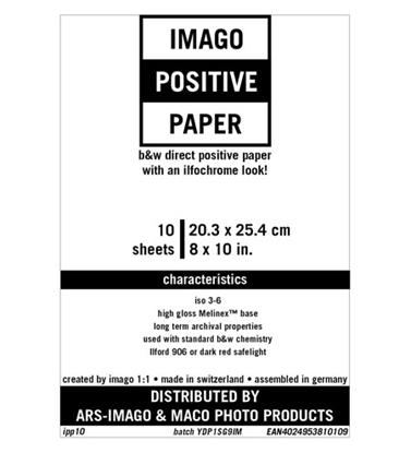 Afbeelding van Imago Direct Positive Paper 20,3x25,4cm 10 vel Glans art.nr. 15008