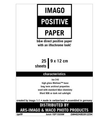 Afbeelding van Imago Direct Positive Paper 9x12cm 25 vel Glans art.nr. 84383