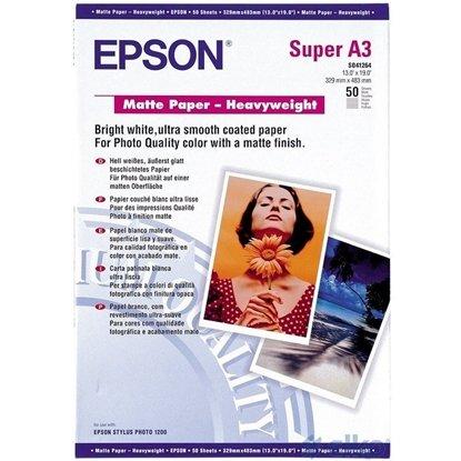 Afbeelding van Epson Matte Paper Heavyweight 167gr. A3+ (330x483mm) 50 vel  C13S041264 art.nr. 410428910