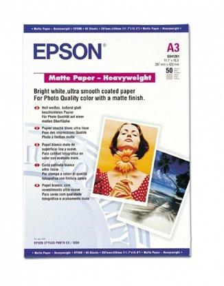 Afbeelding van Epson Matte Paper Heavyweight 167gr. A3 (297x420mm) 50 vel  C13S041261 art.nr. 410428911
