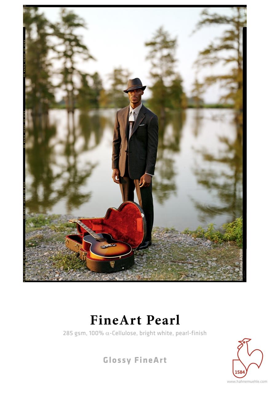 Afbeelding van Hahnemuehle Fine Art Pearl  24inch (610mm) 12mtr, 285 gr. Parelkleurige Coating. art.nr. 11928