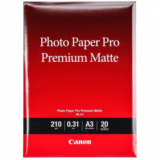 Afbeelding van Canon PM-101 Pro Premium Matte Photo Paper A3 20 vel 210gr. art.nr. 21774