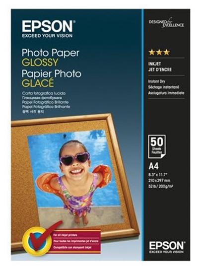 Afbeelding van Epson Glossy Photo Paper 200gr. 50 vel A4 C13S042539 art.nr. 26690
