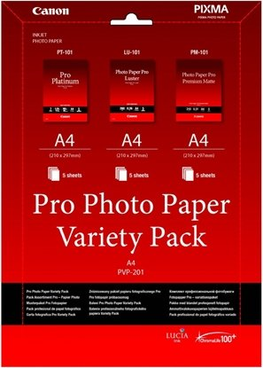 Afbeelding van Canon PVP-201 Pro Photo Paper Variety Pack A4  3 x 5 vel art.nr. 21451