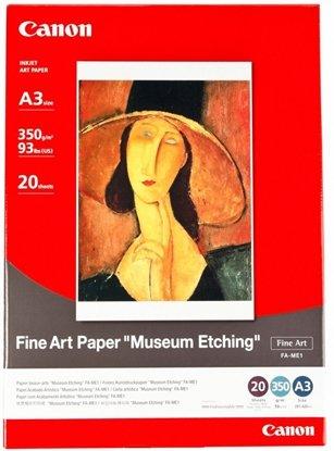 Afbeelding van Canon FA-ME1 Fine Art Paper Museum Etching A3 20 sheets 350gr art.nr. 411271115