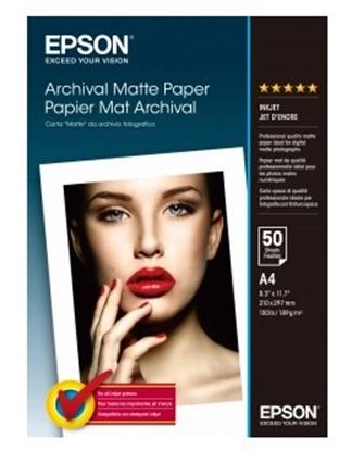Afbeelding van Epson Archival Matte Paper 189gr A4 50 vel C13S041342 art.nr. 410517211