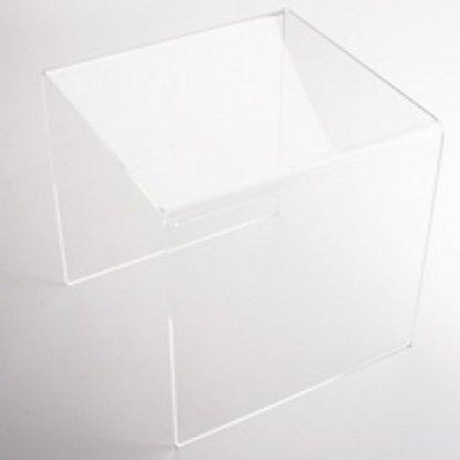 Afbeelding van Plexiglas standaard transparant 10x10x10cm  art.nr. 58966