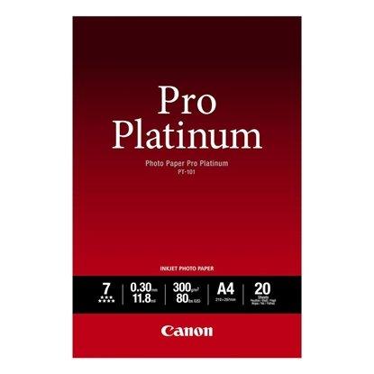 Afbeelding van Canon PT-101 Pro Platinum Photo Paper High Gloss A4 20 vel 300gr. art.nr. 411656412