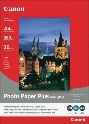 Afbeelding van Canon SG-201 Photo Paper Plus Semi Gloss A4 20 vel 290gr art.nr. 1271119
