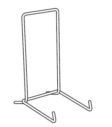 Afbeelding van Lijststandaard wit gelakt staal verkrijgbaar in 4 hoogtes art.nr. 4598