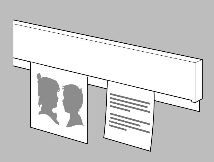 Afbeelding van ArtiTeq Info Rail verkrijgbaar in 2 kleuren en 3 maten art.nr. 10907